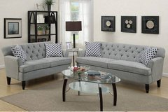 New! Taupe Velveteen Sofa and Loveseat Set FREE DELIVERY in Camp Pendleton, California