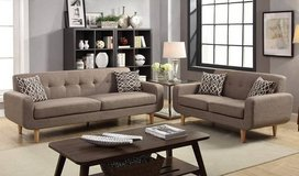 New! Mocha Dorris Fabric Sofa and Love seat Set FREE DELIVERY in Camp Pendleton, California