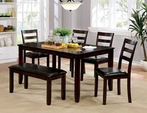 New! Brown Cherry 6 PC. DINING TABLE SET FREE DELIVERY in Camp Pendleton, California