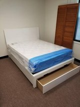 New QUEEN White Bed Frame with Storage Drawer FREE DELIVERY in Camp Pendleton, California