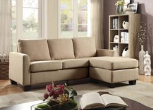 New Beige Linen Mini Linen Sofa Sectional FREE DELIVERY in Camp Pendleton, California