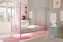 Girls canopy bed with metal frame in Fort Riley, Kansas