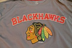 NHL Official Licensed Product --  Chicago Blackhawks SS Gray Polyester Shirt, XL in Naperville, Illinois