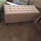 Tufted Tan Storage Bench in Nellis AFB, Nevada