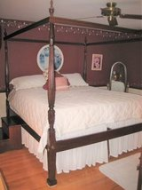 Beautiful King Size Bed with Canopy Frame in Joliet, Illinois