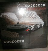 wockoder retro 3-speed turntable record player with bluetooth, built-in stereo in Camp Lejeune, North Carolina