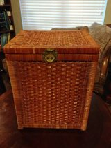 Rattan tall chest with brass hardware in Phoenix, Arizona