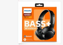Brand New Philips Extra BASS+ Bluetooth Wireless On-Ear Headphones with Microphone in Joliet, Illinois