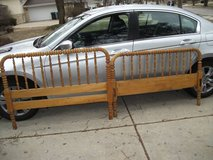 JENNY LYND STYLE ALL WOOD HEAD AND FOOT BOARD in Naperville, Illinois