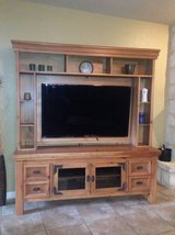 2 Pc. Rustic Taffy Flat Screen Entertainment Hutch and Console Combo in Lackland AFB, Texas