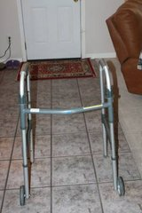 "INVACARE ADULT FOLDING WALKER & 5"" WHEELS 6291-5F in Houston, Texas"