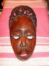 LARGE HAND CARVED FACE MASK MUSEUM QUALITY in DeKalb, Illinois