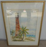 (# 37) Lighthouse Seascape Painting (Used) in The Woodlands, Texas