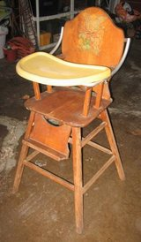 Vintage (maybe Antique) Wood High Chair in Naperville, Illinois