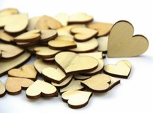 Pack Mixed Size Natural Wood Color Big Heart Shaped Wooden Crafting Scrapbooking in Quantico, Virginia