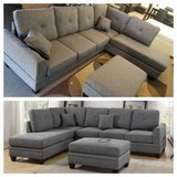 New Ash Black Sectional (Ottoman sold separately) FREE DELIVERY in Miramar, California