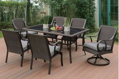 New Patio Table and 6 Chairs 7-Pcs Outdoor Set FREE DELIVERY in Miramar, California