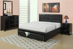New! FULL or QUEEN BLACK Bed Frame + Storage FREE DELIVERY in Miramar, California