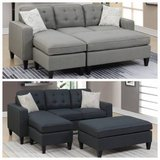 New Black or Gray Sectional + Ottoman (other colors) FREE DELIVERY in Miramar, California
