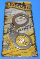 (TG19) Imperial Legends of the Wild West Metal Handcuffs (New) in Tomball, Texas