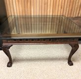 Ethan Allen Glass Top Coffee Table in Aurora, Illinois
