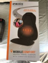 homedics mobile comfort hot cold travel cushion 3 level & setting massage new in Orland Park, Illinois