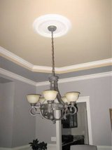 METROPOLITAN Solid Brass Chandelier - French Scavo Glass + 2 Sconces in Chicago, Illinois