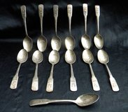 Bicentennial 13 Colonies Silver Plated State Spoon set in Camp Lejeune, North Carolina