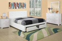New! FULL or QUEEN WHITE Bed Frame + Storage FREE DELIVERY in Camp Pendleton, California