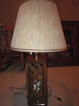 2 Oak and Glass Lamps in Algonquin, Illinois