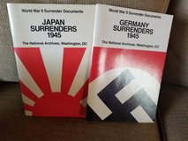 2 World War II books on surrender documents in Camp Pendleton, California