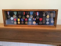 Display Case w/ 17 Medals and 2 NRA Pins in Bolingbrook, Illinois