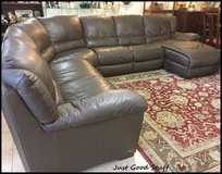 Natuzzi ~ Leather Sectional with a Recline and a Chase in The Woodlands, Texas
