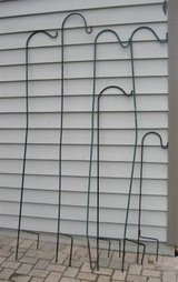 6 Wrought Iron Shepherd Hooks - Bird Feeders - Flower Pots - Etc. in Chicago, Illinois