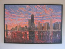 "ART - Chicago Skyline - Lake Michigan Wood Print - 49"" x 33"" - UNIQUE in Glendale Heights, Illinois"