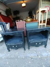 Black Shabby Chic bedside table with drawer in Phoenix, Arizona