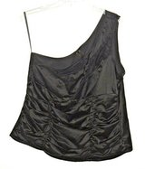 Z Cavaricci Torrid Black Lace Ruched One Shoulder Blouse Womens 3X 22w 24w Tag 3 in Morris, Illinois