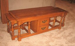 Solid Oak Nesting Coffee Table with 2 Side Tables in Aurora, Illinois