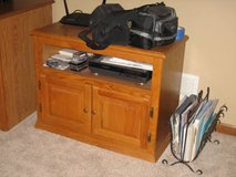 Oak TV Cabinet with Component/Cable Box Shelf in Chicago, Illinois