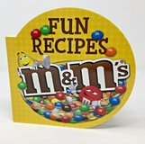 M&M's Fun Recipes Hard Cover Board Cook Book Treats Cook with Kids in Yorkville, Illinois