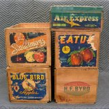 5 Vintage Wood Crates in Naperville, Illinois