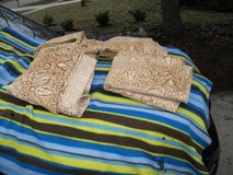 REDUCED.....CURTAINS GOLD / CREAM BROCADE EVANDALE in Westmont, Illinois