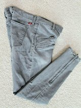 Lucky Brand Black Charlie Super Skinny Denim Jeans, Zipper Detail, Size 4/27 in in Joliet, Illinois