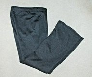 Chico's Dark Gray Pull-On Pants, Flare Leg, Flat Front, Chico's Size 1/Medium in Bolingbrook, Illinois