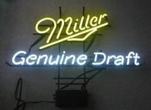 Miller Genuine Draft Neon Beer Sign in Aurora, Illinois