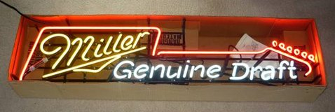 Miller Genuine Draft Guitar Neon Beer Sign in Aurora, Illinois