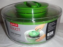 New! Good Cook Touch Salad Spinner Clear w/Green Accents BPA Free in Joliet, Illinois
