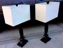 Table Lamps Modern Matching Set Pair Rectangular in Glendale Heights, Illinois