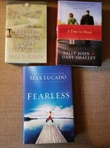 Christian book titles by Sally John and Max Lucado in Vista, California