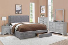 New! King Size Stone Ash Platform Storage Bed Frame FREE DELIVERY in Camp Pendleton, California